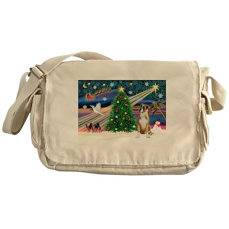 Xmas Magic & Boxer Messenger Bag