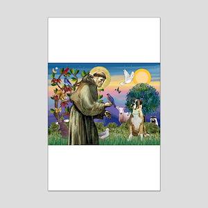 Saint Francis & Boxer Mini Poster Print