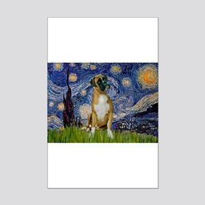 Starry Night & Boxer Mini Poster Print