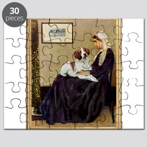 Mom and her Brittany Puzzle