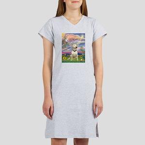 Cloud Angel/Bull Terrier Women's Nightshirt