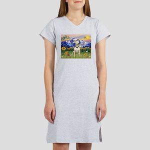 Mt Country/Bull Terrier Women's Nightshirt
