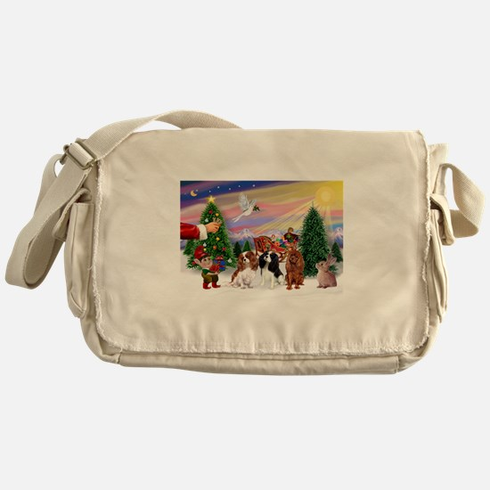 Treat for 3 Cavaliers Messenger Bag