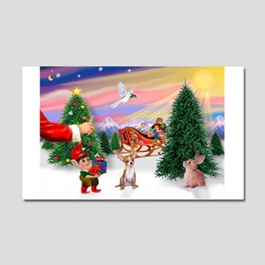 Santa's treat /Chih Car Magnet 20 x 12