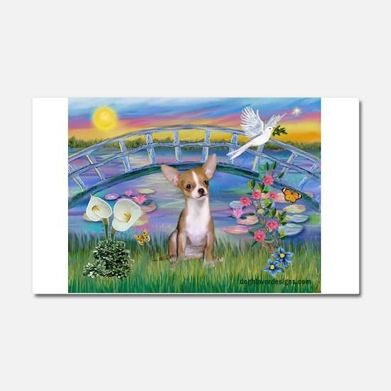 Lilies/Chihuahua Car Magnet 20 x 12