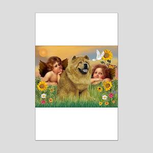 Angels & Chow Chow Mini Poster Print