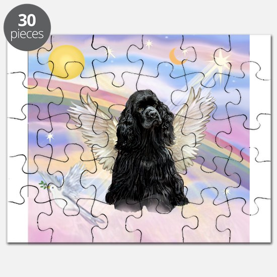 Cocker Angel in Clouds Puzzle