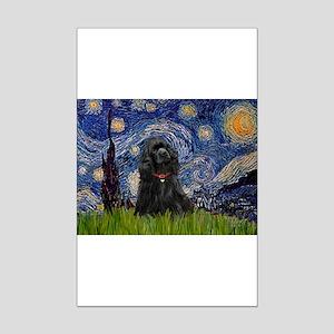 Starry/Cocker (blk) Mini Poster Print
