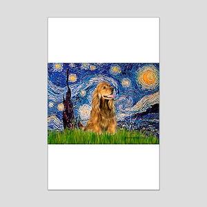 Starry Night/Cocker(#7) Mini Poster Print