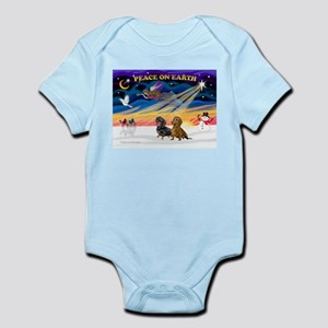 XmasSunrise/2 Dachshunds Infant Bodysuit
