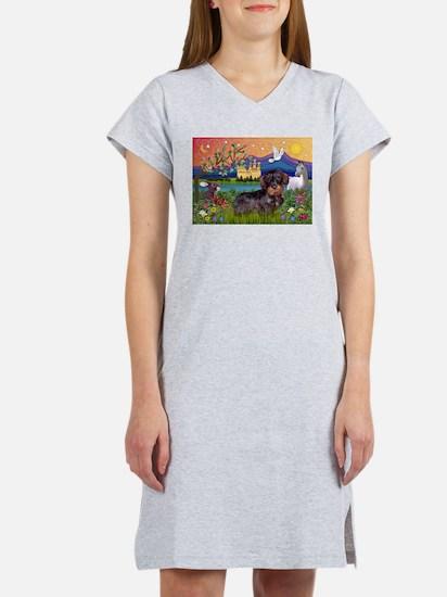 Fantasy Land / Dachshund (WH) Women's Nightshirt