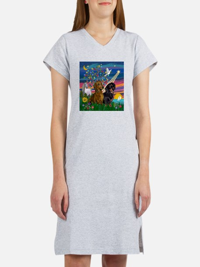 Magical Night / Two Dachshund Women's Nightshirt
