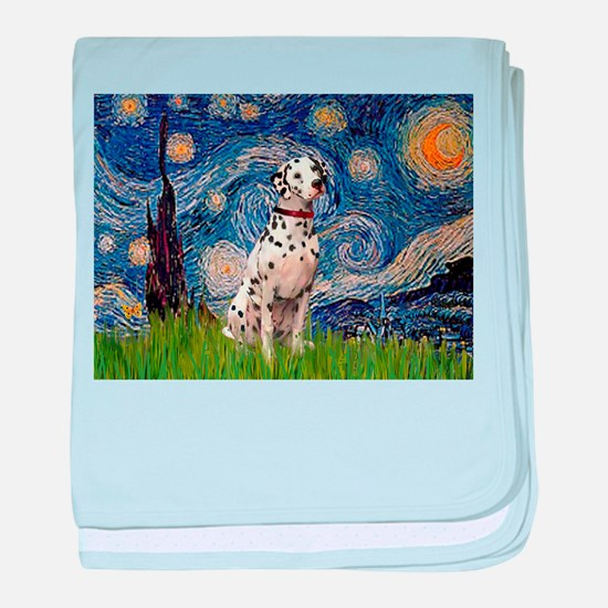 Starry Night & Dalmatian baby blanket