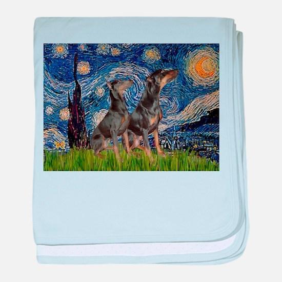 Starry Night & Dobie Pair baby blanket