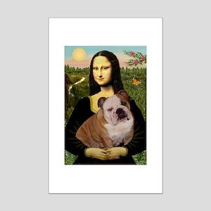 Mona's English Bulldog Mini Poster Print