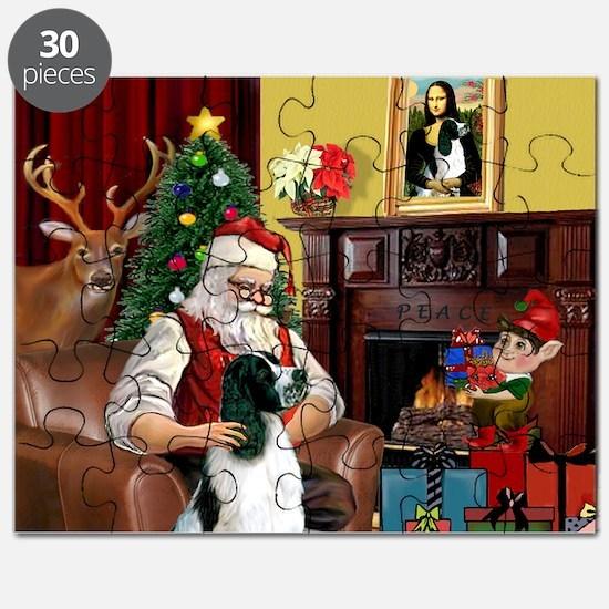 Santa's English Springer Puzzle