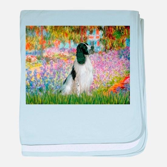 Monet's garden & Springer baby blanket