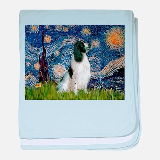 Starry Night English Springer baby blanket