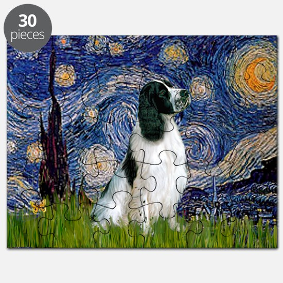 Starry Night English Springer Puzzle