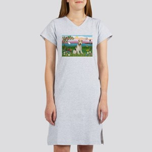 Lighthouse & Wire Fox Terrier Women's Nightshirt