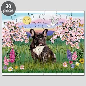 Blossoms & French Bulldog Puzzle