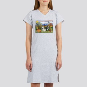French Bulldog Picnic Women's Nightshirt