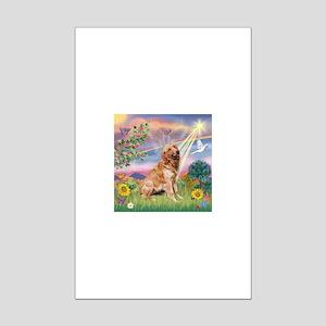 Cloud Angel / Golden Mini Poster Print