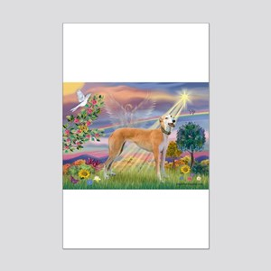 Cloud Angel & Greyound Mini Poster Print