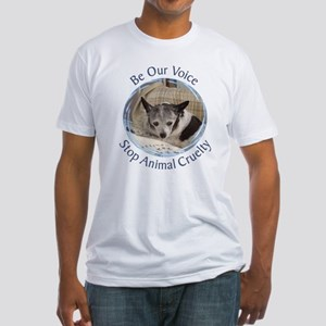Be Our Voice Stop Animal Crue Fitted T-Shirt