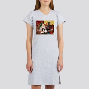 Santa's 2 Japanese Chins Women's Nightshirt