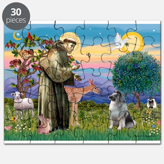 St Francis/Keeshond Puzzle