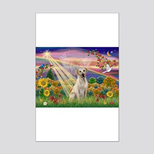 Autumn Angel/Lab (Y) Mini Poster Print