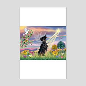 Cloud Angel Min. Pinscher Mini Poster Print