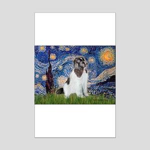 Starry Night / Landseer Mini Poster Print