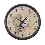 Golden Retriever Large Wall Clock