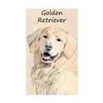 Golden Retriever Sticker (Rectangle 10 pk)