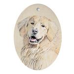 Golden Retriever Oval Ornament