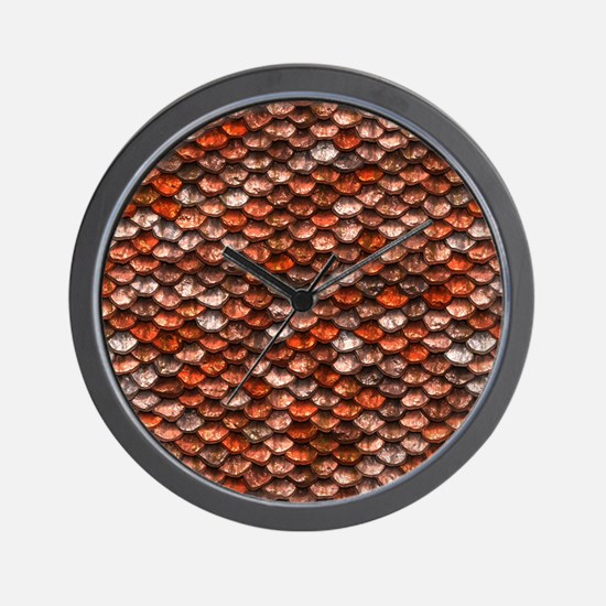 Mermaid Scales - Koi Wall Clock