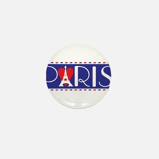 Love Paris Mini Button