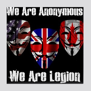 We Are Legion - Anonymous Tile Coaster
