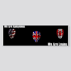 We Are Legion - Anonymous Sticker (Bumper)