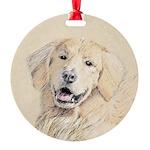 Golden Retriever Round Ornament