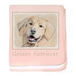 Golden Retriever baby blanket