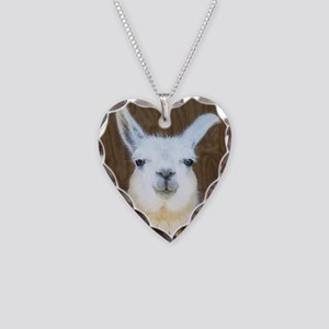 Llamas Necklace Heart Charm
