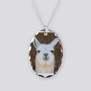 Llamas Necklace Oval Charm