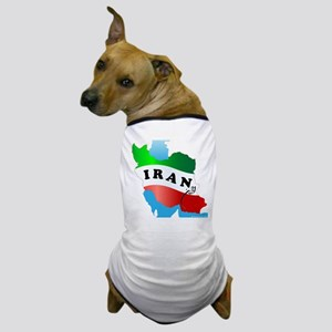 Iran Map with Flag Dog T-Shirt