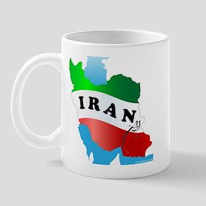 Iran Map with Flag Mug