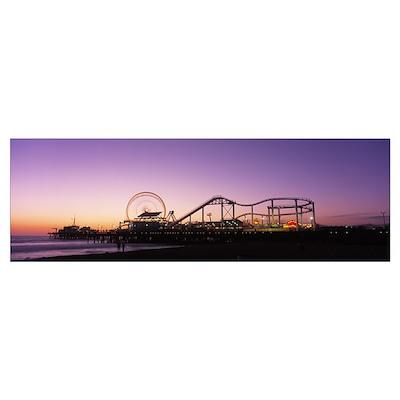 Amusement Park Santa Monica CA Poster