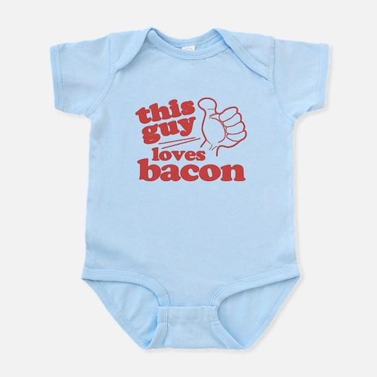This Guy Loves Bacon Infant Bodysuit