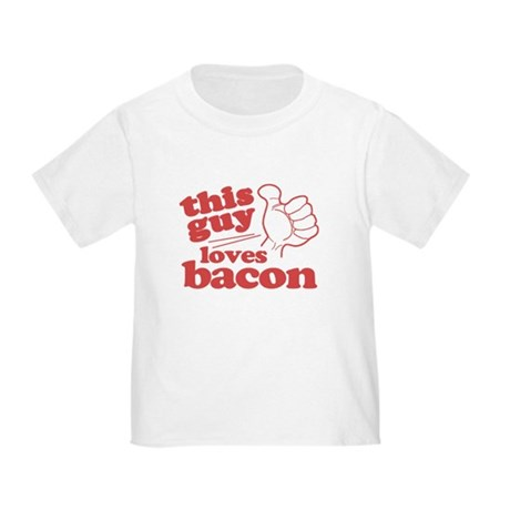This Guy Loves Bacon Toddler T-Shirt
